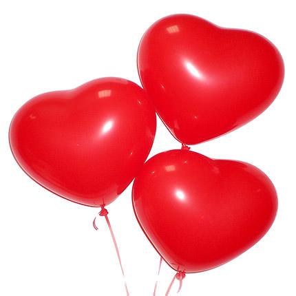 """Фото 35 - Кулька-серце 10""""(28-30 см) наповнена гелієм."""