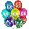 """Фото 2 - Тематична кулька """"З днем народження"""" 12""""(28-30 см) наповнена гелієм."""
