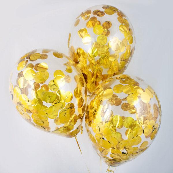 Фото 33 - Кулька наповнена гелієм з круглим конфеті..