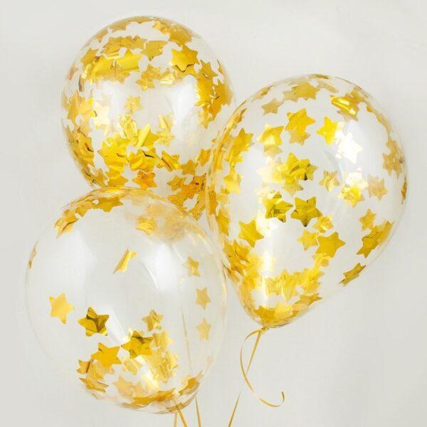 Фото 23 - Кулька наповнена гелієм з конфеті зірки.