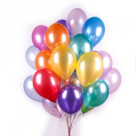 Фото 1 - Кулька металік наповнена гелієм (26 см.), літає 10-12 год..