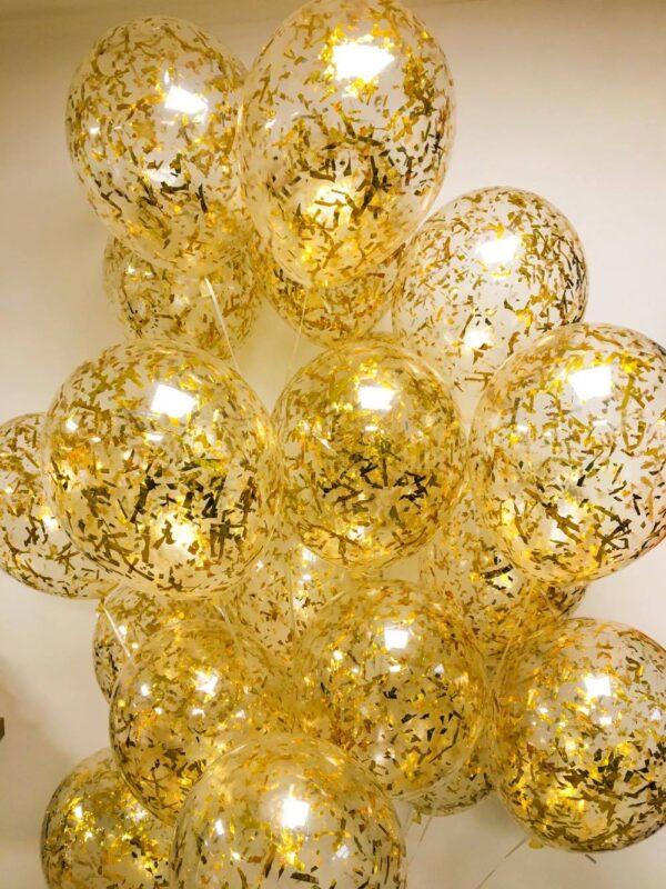 Фото 1 - Кулька наповнена гелієм з конфеті мішура.