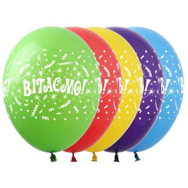 """Фото 36 - Тематична кулька Вітаємо 12""""(28-30 см) наповнена гелієм."""