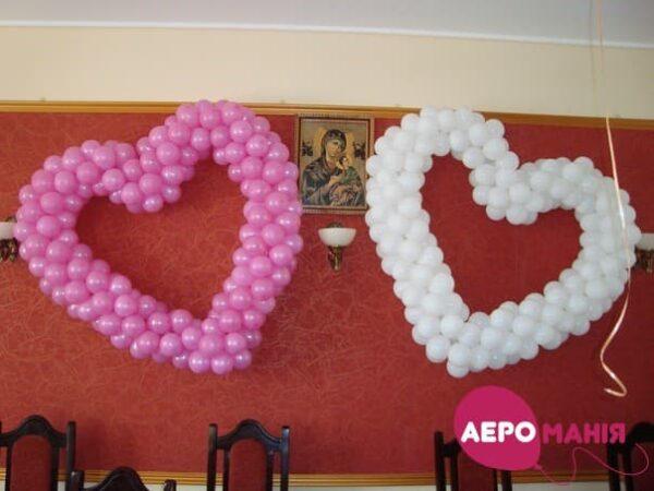 Фото 34 - Серце з повітряних кульок від 0,80м. до 1,70м..