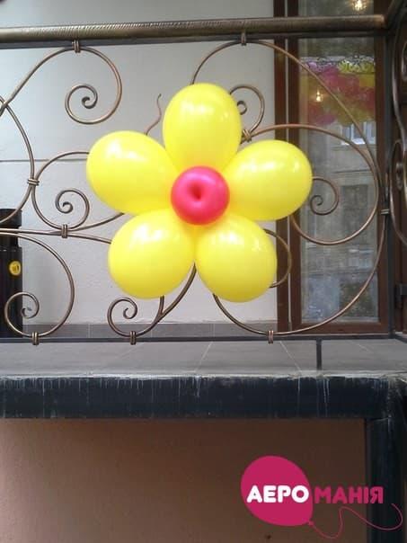 Фото 44 - Композиція Квітка з 5 кульок.