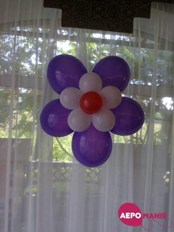 Фото 33 - Композиція Подвійна квітка з 17 кульок.