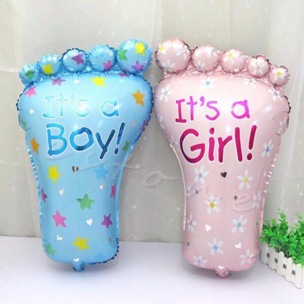 Фото 38 - Фольгована кулька для новороджених ніжка.