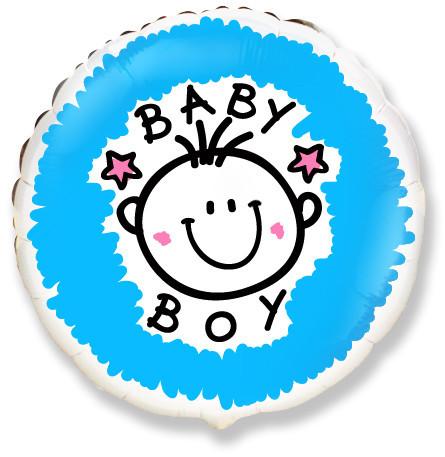 """Фото 35 - Фольгована кулька Baby boy 18""""( 45 см.)."""