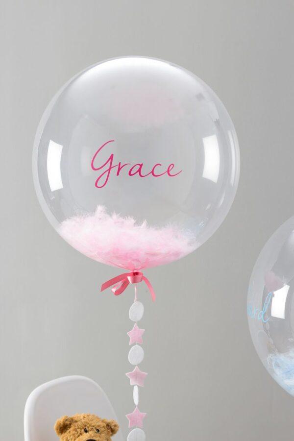 Фото 31 - Куля прозора Bubbles з пір'ям.