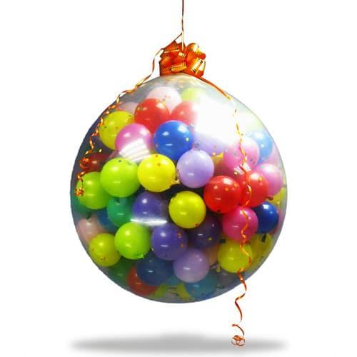 Фото 25 - Куля-сюрприз наповнена повітрям з кульками та конфеті (всередині 150 шт.).