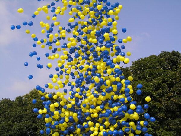 Фото 23 - Запуск кульок з сітки в небо.