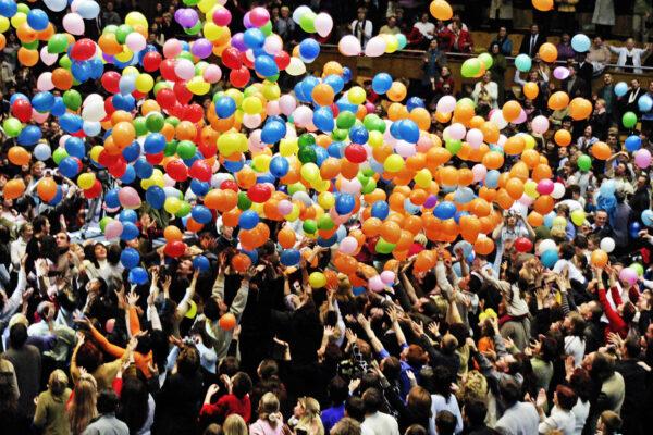Фото 26 - Шаропад - Скидання кульок з сітки.
