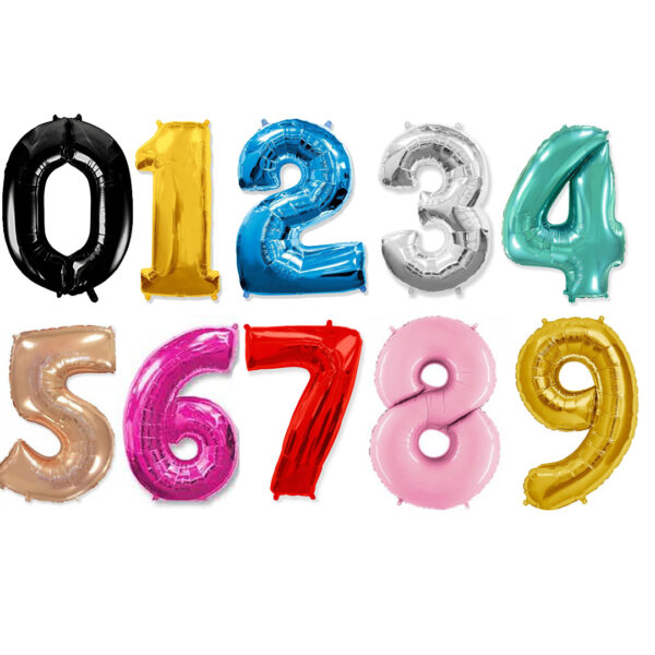 Фото 1 - Фольгована кулька цифра (100 см.).