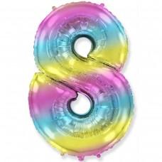 """Фото 23 - Фольгована кулька цифра 8 """"градієнт"""" (70 см.)."""