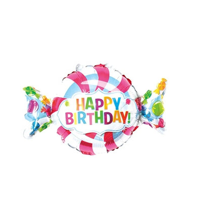 "Фото 18 - Фольгована кулька цукерка ""Happy birthday""."
