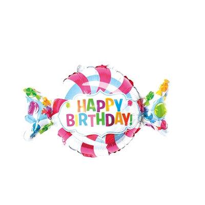 "Фото 17 - Фольгована кулька цукерка ""Happy birthday""."