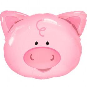Фото 23 - Фольгована кулька голова свинки.