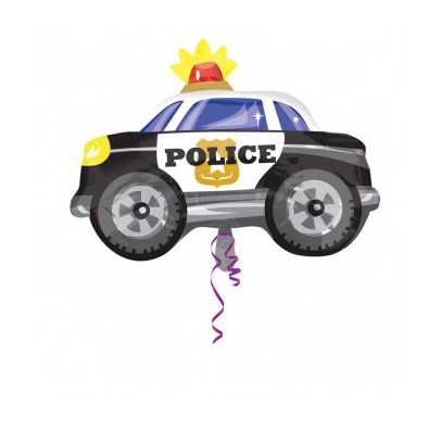 Фото 26 - Фольгована кулька поліцейська машинка.