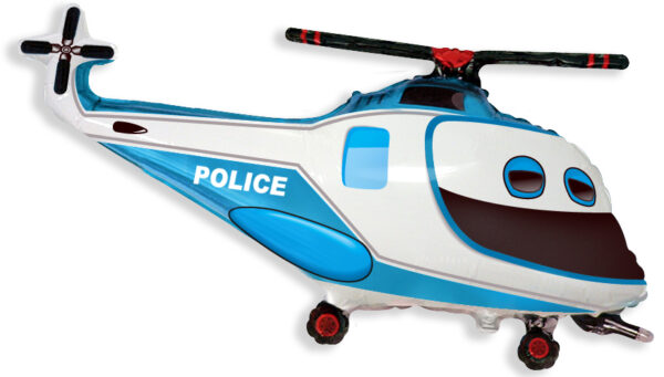 Фото 23 - Фольгована кулька поліцейський вертоліт.