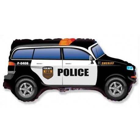 Фото 23 - Фольгована кулька поліцейський джип.