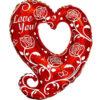 "Фото 2 - Кулька Фігурне серце ""I love you""."