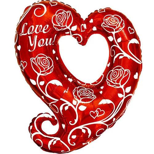 "Фото 1 - Кулька Фігурне серце ""I love you""."