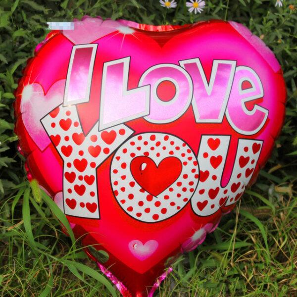 """Фото 1 - Кулька Серце """"I love you""""."""