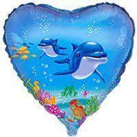 Фото 23 - Кулька Сердечко з дельфінами.