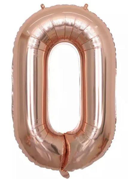 "Фото 40 - Фольгована кулька цифра 0 ""рожеве золото"" (70 см.)."